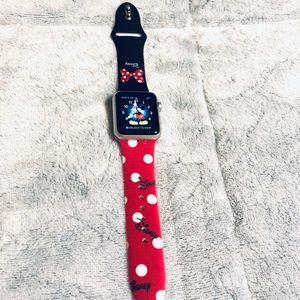 38mm Minnie Mouse Apple Watch silicone Band (S/M)